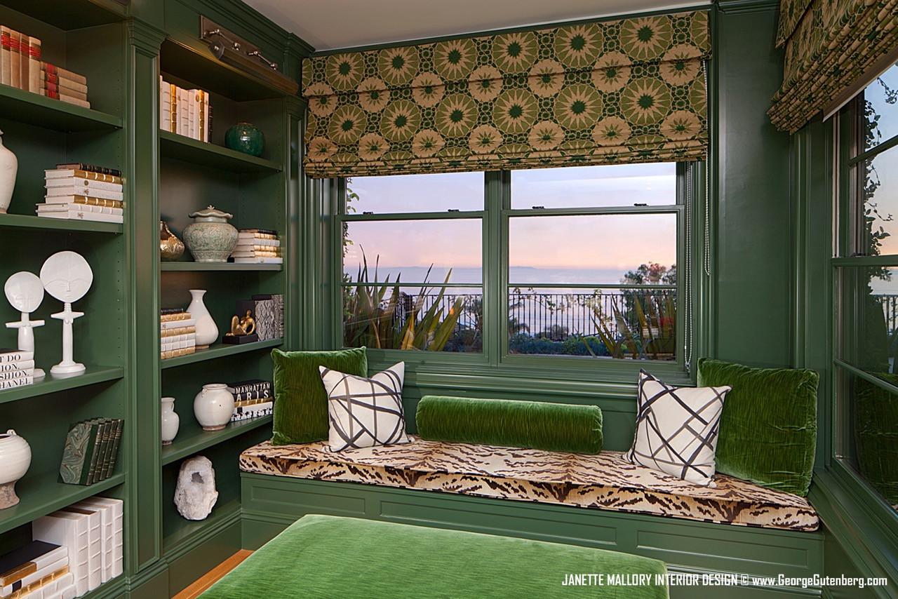 Green Built In Bookcase Malibu California