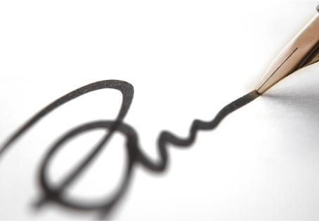 Подпись. Разработка и изменение личной подписи