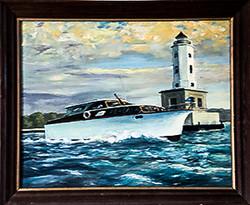 Winnie J II and Lighthouse