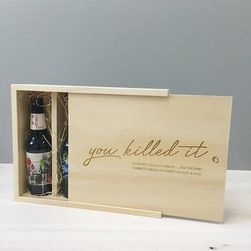 4-Bottle Beer Box