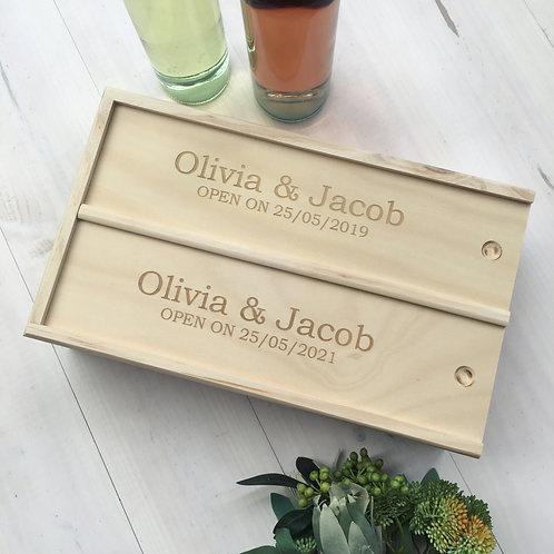 Custom Double Wine Box