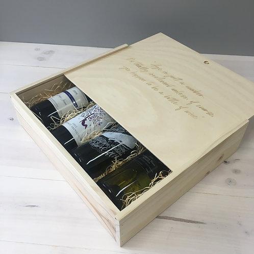 Custom 4-Bottle Wine Box