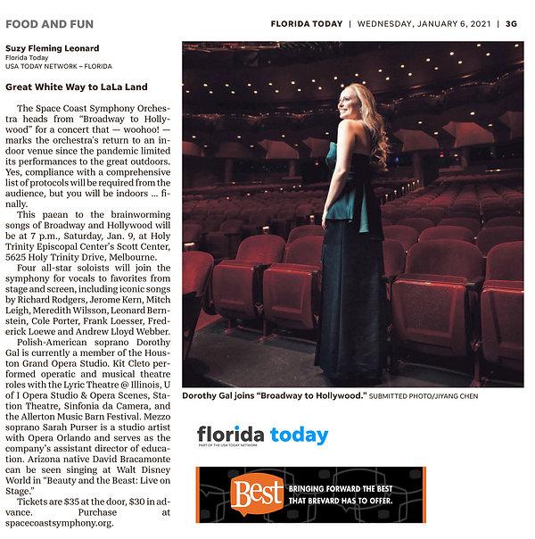 Florida Today Article - Space Coast Symp