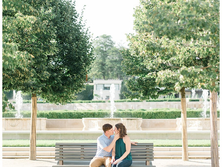 Molly & Jeremy | A Summer Longwood Gardens Engagement
