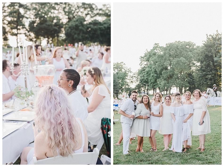 Purple Hair and Group Shot. Fete en Blanc Lancaster 2019 at Longs Park by Angela Weiler Photography - Fine Art Wedding Photographer.