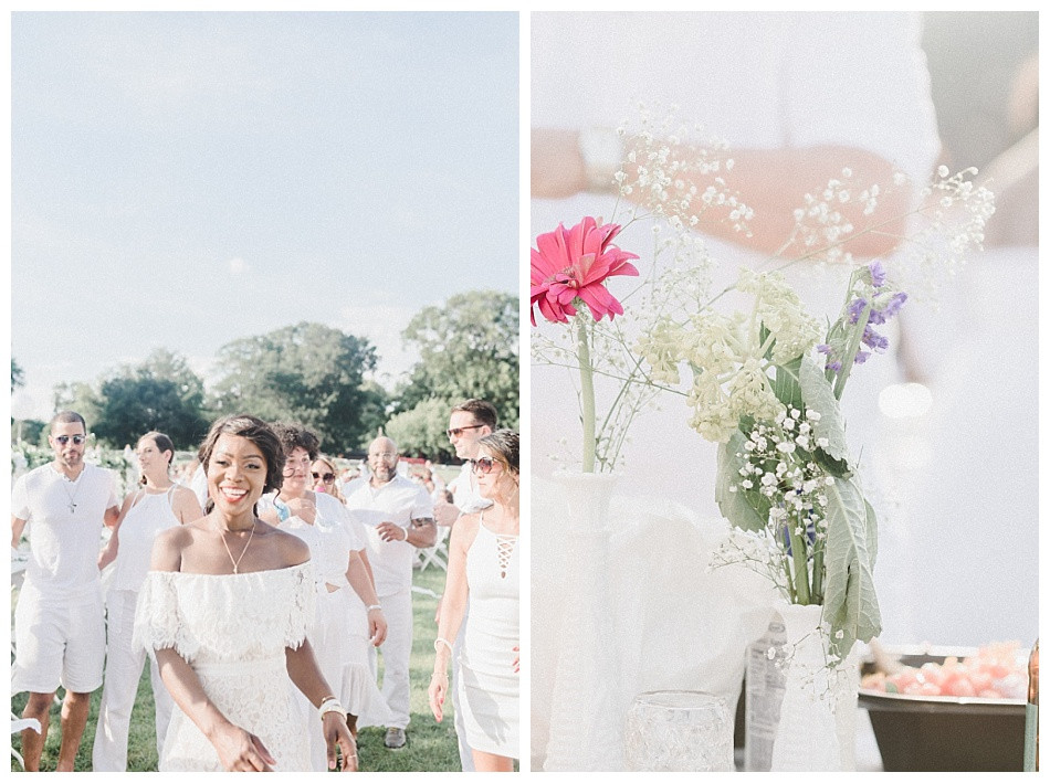 Wildflowers and white dresses.  Fete en Blanc (Party in White) Lancaster 2019 at Longs Park by Angela Weiler Photography - Fine Art Wedding and Lifestyle Photographer in Lancaster Pennsylvania.