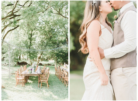 Backyard Elopement Styled Shoot
