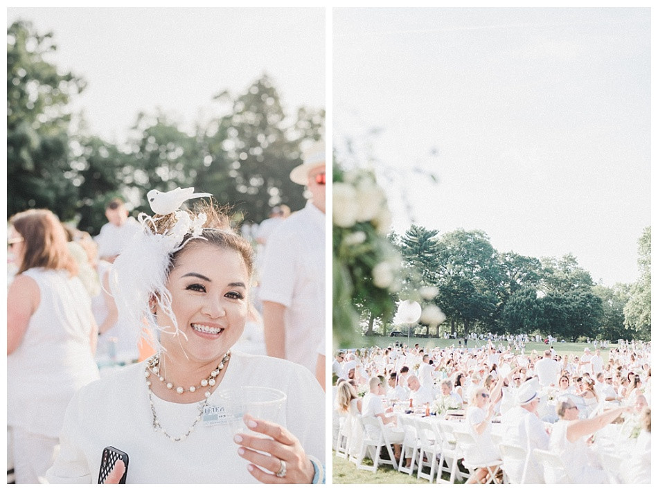 White bird, bird's nest, and feather headband.  Fete en Blanc (Party in White) Lancaster 2019 at Longs Park by Angela Weiler Photography - Fine Art Wedding and Lifestyle Photographer in Lancaster Pennsylvania.