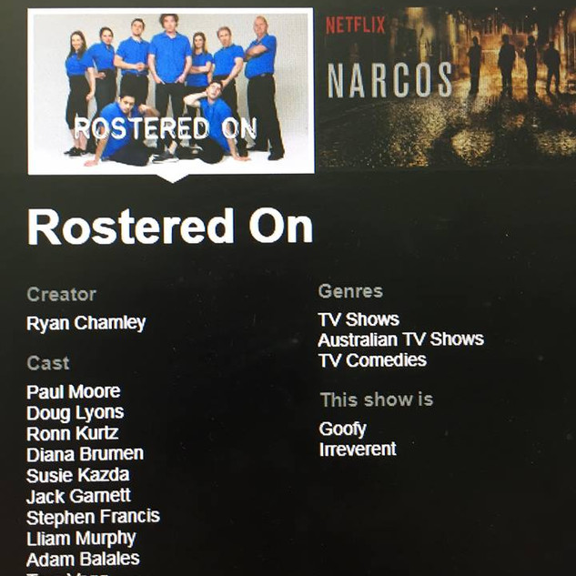 Rostered On Cast - Netflix Show Page