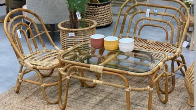 Authentic handmade rattan Children's Set