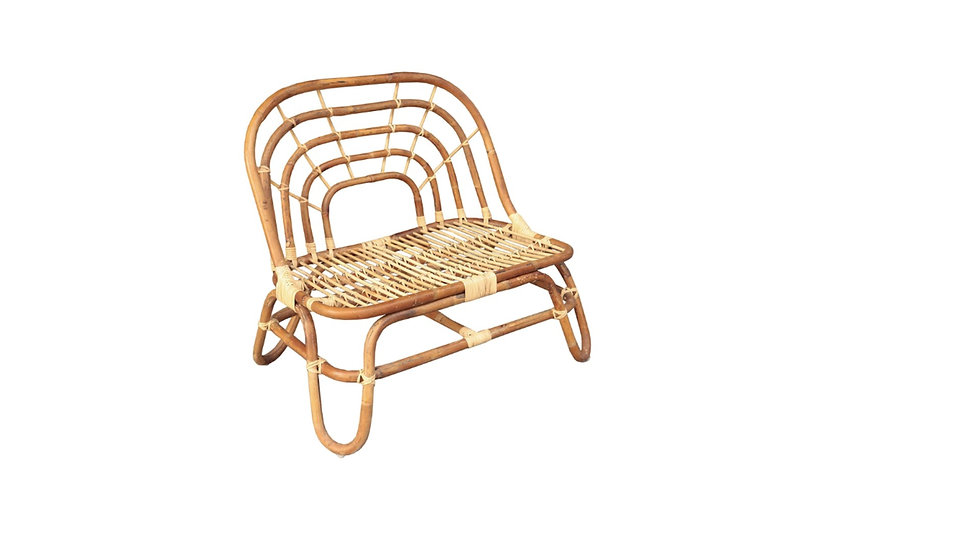 Authentic handcrafted Natural rattan Children's Bench