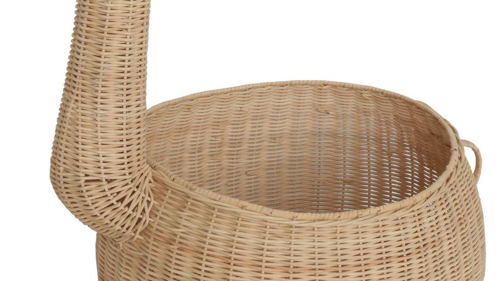 Authentic Handcrafted Light Rattan Giraffe Storage Basket