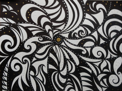 Milky Way, ink drawing, 28 x 38 cm , 11