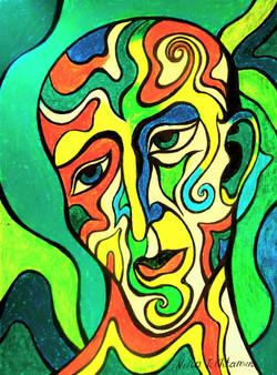 Face X oil pastel 2013