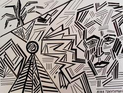 Only Black Lines, 2018, 41 cm x 29 cm