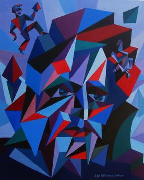 Entropy, oil painting, 60 cm x 50 cm, 20