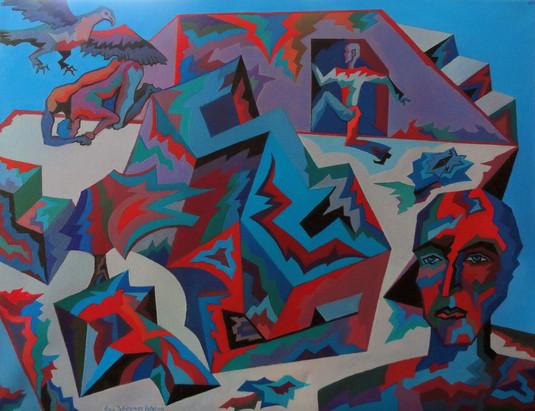 Escape, 2017, oil on canvas, 22 x 28., x