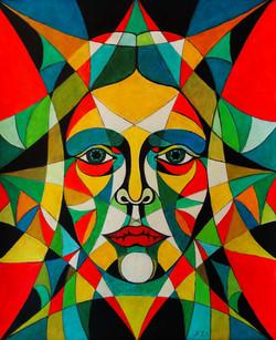 Kaleidoscope, prisma color on papr, 2019