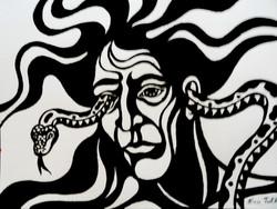 Dark Shadows, ink on paper, 23 x 30 cm 9