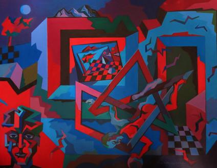 Wandering in Spaces, oil painting, 24 x