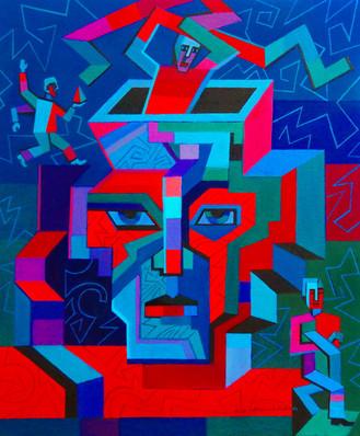 Transfiguration, oil painting, 50 cm x 6