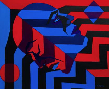 Tanatos, oil painting, 50 x 60 cm, 2015,