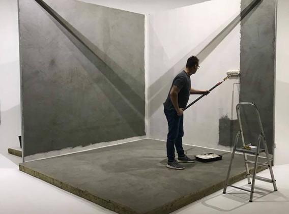 Concrete textured walls