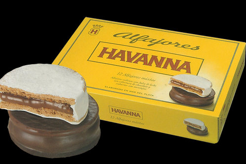 HAVANNA MIXTOS CHOCOLATE / BLANCO 12 unidades