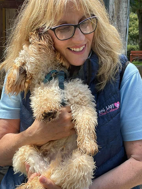 Deb and pup with logo.jpg