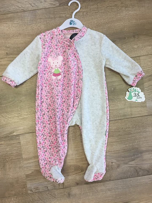 F.S Baby - pink and grey babygrow