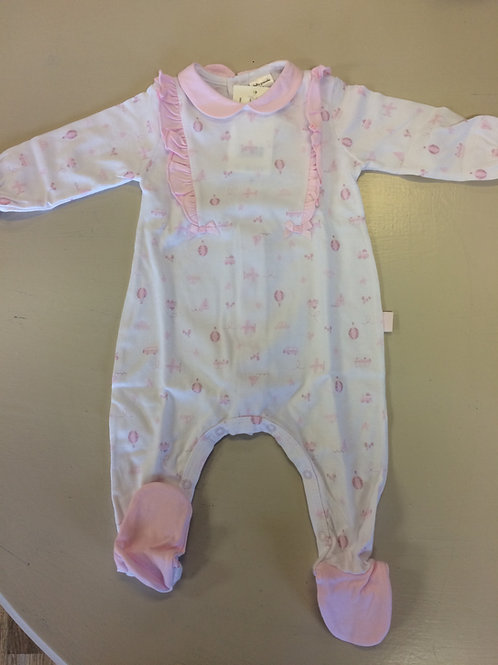 Tutto Piccolo Baby grow - White & Pink