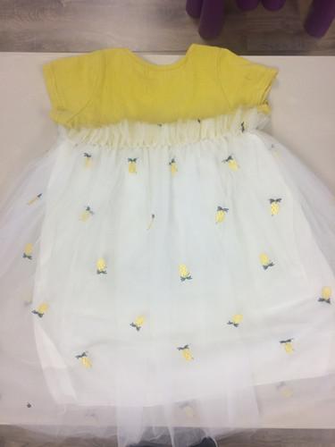 9c9acd6fba8a Girls yellow   white dress