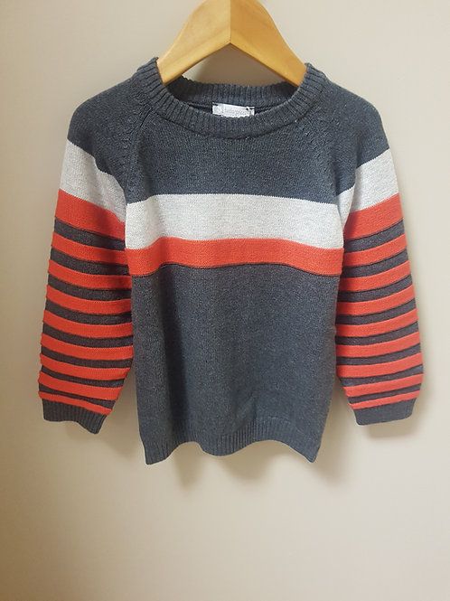 Tutto Piccolo grey and orange jumper