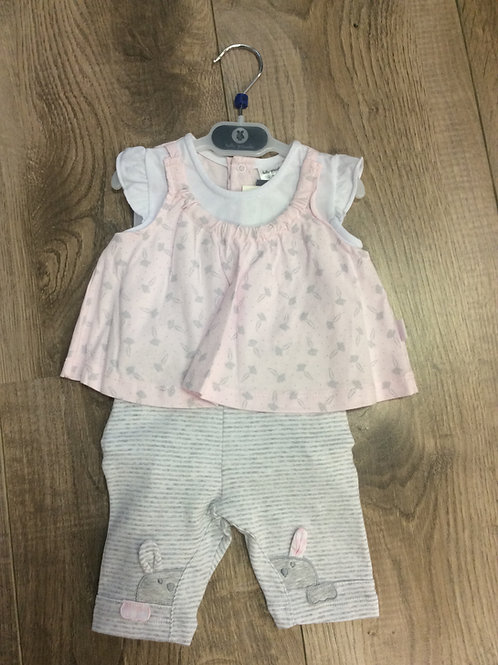 Tutto Piccolo pink 2 piece baby outfit
