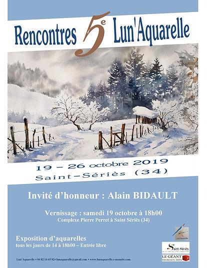 5ème Rencontres Lun'Aquarelle 2019 - St Sériès