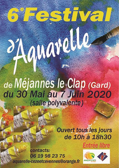 6ème Festival de l'Aquarelle de Méjannes le Clap