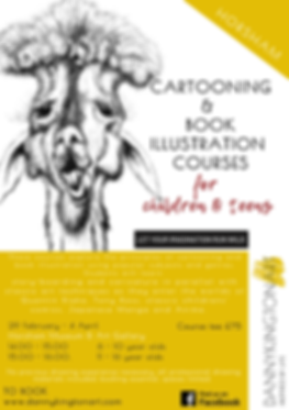 Cartooning and book illustration course