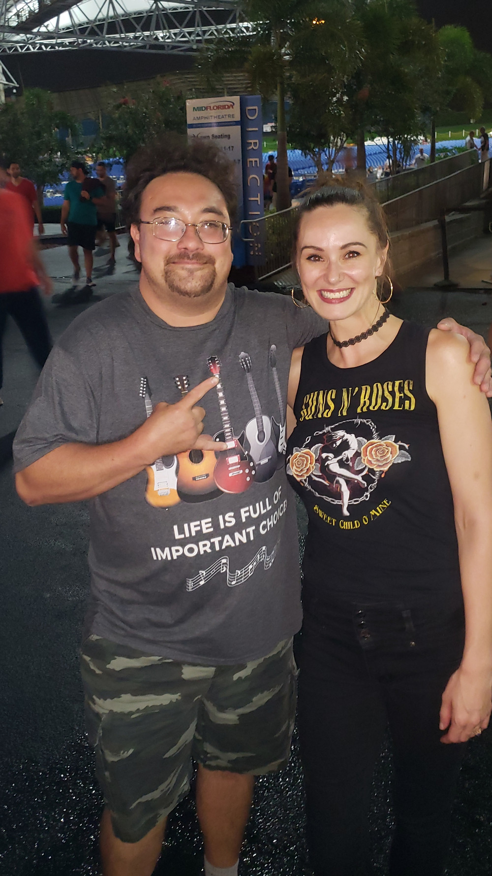 Alex Matos, Stephanie Romer BUSH Concert Summer 2019