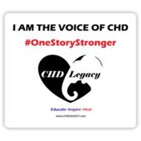 Sticker: Voices of CHD