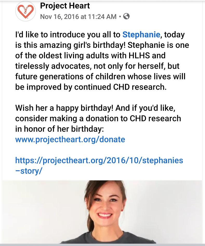 Stephanie Romer, HLHS