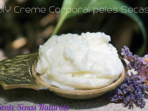 Creme Corporal DIY para peles secas e maceração de plantas.