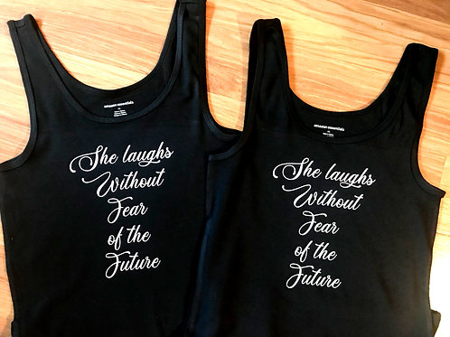 She Laughs Without Fear Womens Tank