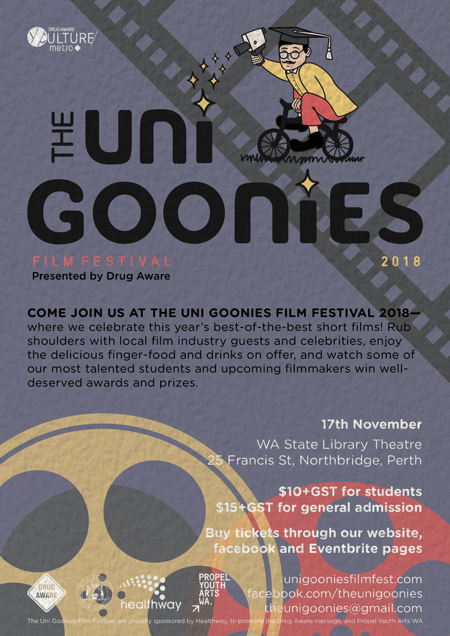 Come join us at the Uni Goonies Film Festival!
