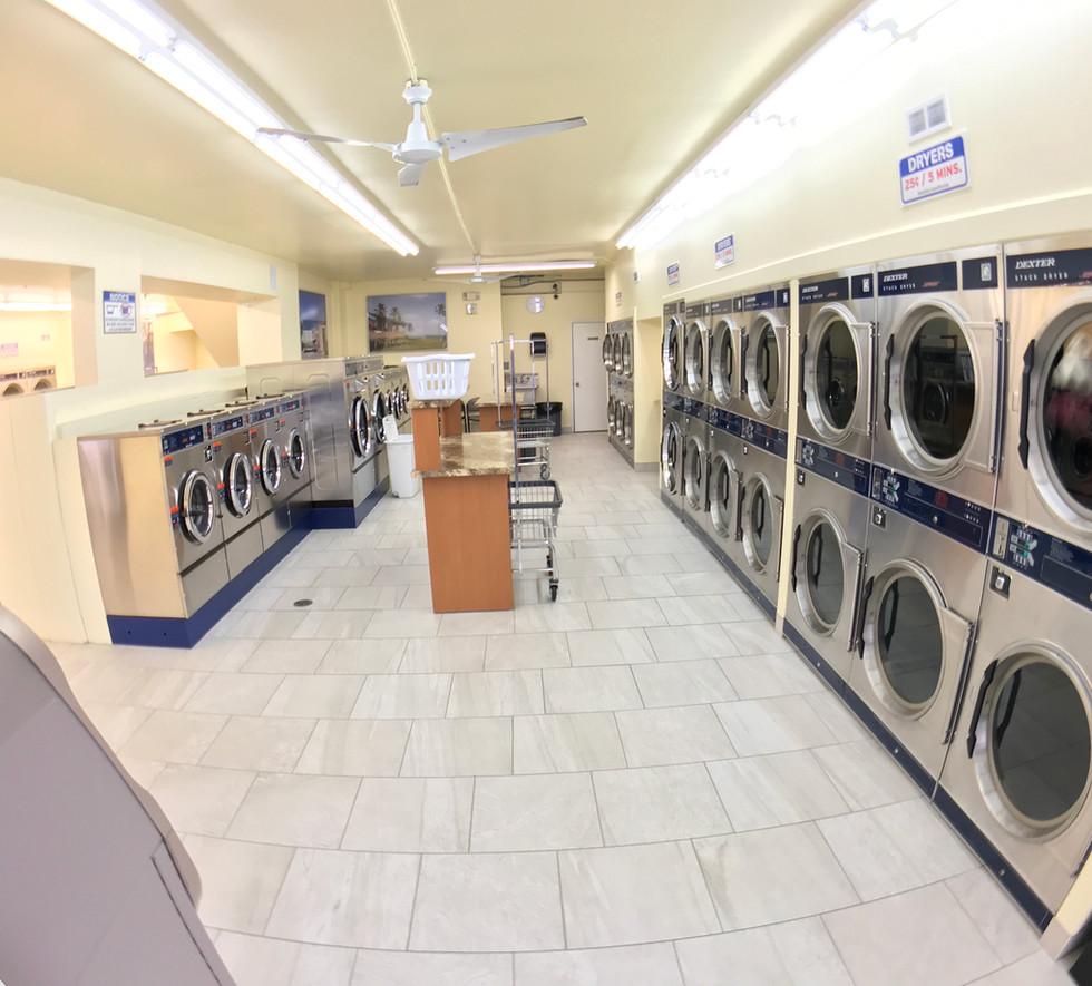 Laundromat washers and dryers