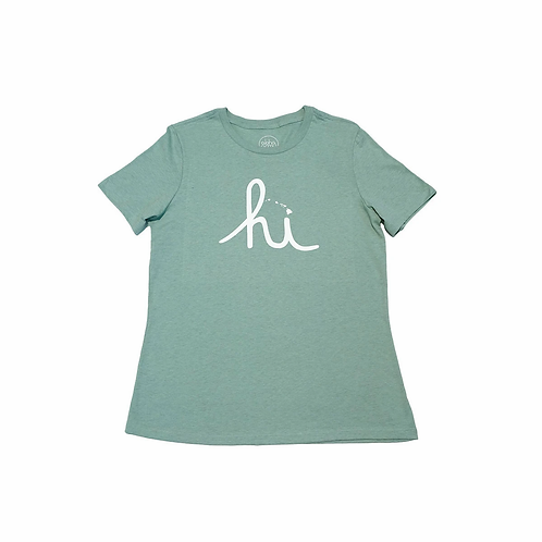 IN4MATION X Aloha Army Womens HI LANDS TEE - Mint
