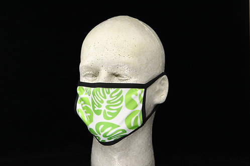 Green Monstera Leaves || 2-Layer Face Mask Adult Unisex with Filter Pocket