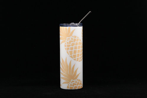 Dancing Pineapples Pattern Hot & Cold Stainless Steel Tumbler - 20oz.