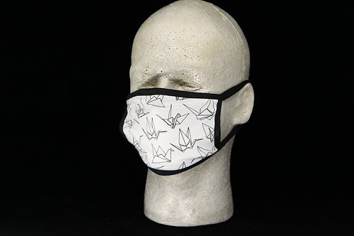 Origami Cranes || 2-Layer Face Mask Adult Unisex with Filter Pocket