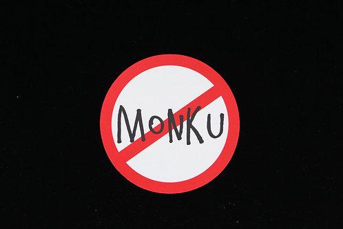 "No Monku  - Jar Opener - 5""Round - Black"