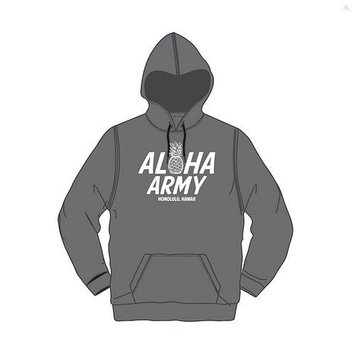 IN4MATION X Aloha Army Mens - Daphnus Pullover - Charcoal